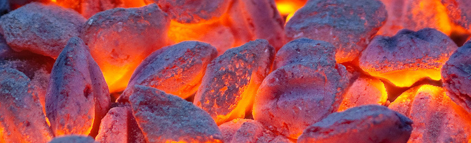 Large embers
