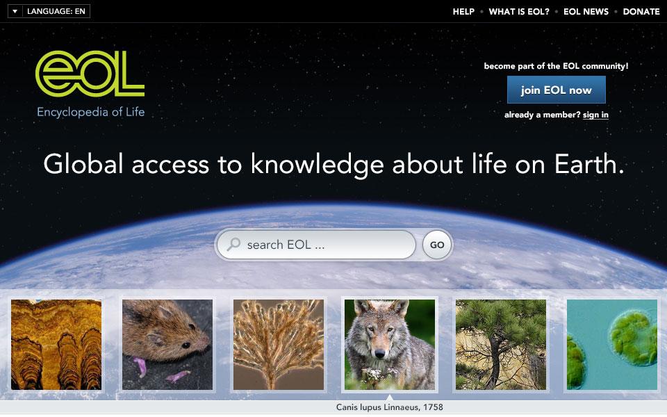Screenshot 1 of Encyclopedia of Life