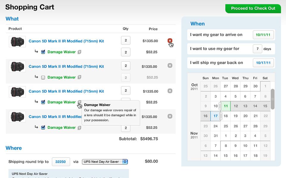 Screenshot 3 of LensRentals.com