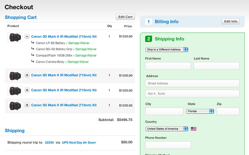 Screenshot 4 of LensRentals.com
