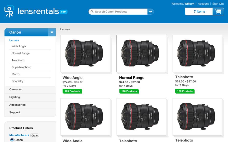 Screenshot 5 of LensRentals.com
